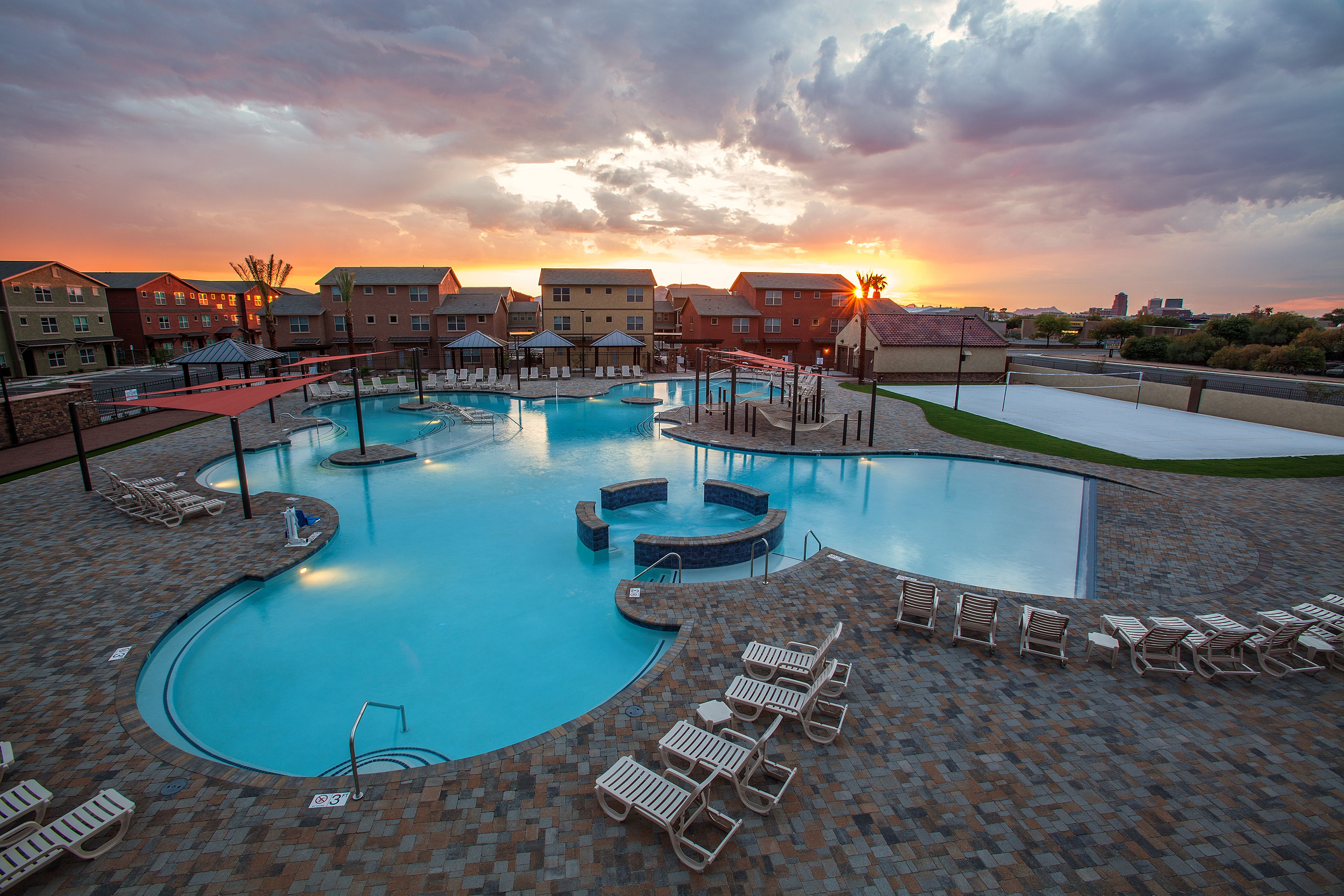 Patio Pools Built The Largest Pebble Tec Surface In Southern AZ At 11,327  Square Foot Of Internal Area And Is The Largest Body..Read More